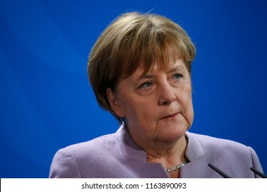 FEBRUARY 17, 2017 - BERLIN: German Chancellor Angela Merkel at a press conference in the Federal Chanclery in Berlin.