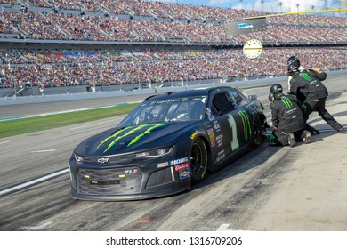 February 17, 2019 - Daytona Beach, Florida, USA: Kurt Busch (1) battles for position at the Daytona 500 at Daytona International Speedway in Daytona Beach, Florida.