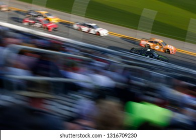 February 17, 2019 - Daytona Beach, Florida, USA: Ryan Newman (6) races down the front stretch during the Daytona 500 at Daytona International Speedway in Daytona Beach, Florida.