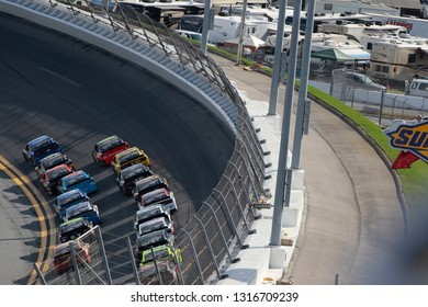 February 17, 2019 - Daytona Beach, Florida, USA: Ricky Stenhouse, Jr (17) races down the back stretch during the Daytona 500 at Daytona International Speedway in Daytona Beach, Florida.