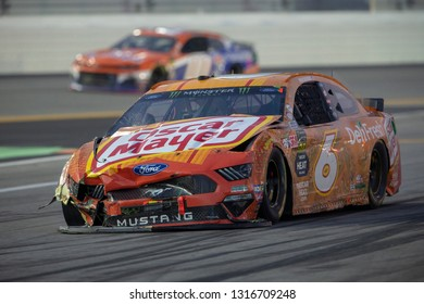 February 17, 2019 - Daytona Beach, Florida, USA: Ryan Newman (6) battles for position at the Daytona 500 at Daytona International Speedway in Daytona Beach, Florida.