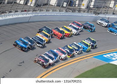 February 17, 2019 - Daytona Beach, Florida, USA: Ricky Stenhouse, Jr (17) races down the front stretch during the Daytona 500 at Daytona International Speedway in Daytona Beach, Florida.