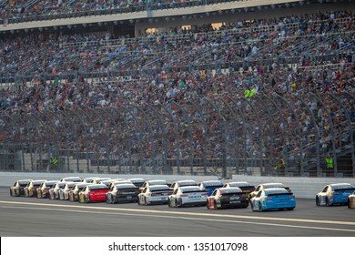 February 17, 2019 - Daytona Beach, Florida, USA: William Byron (24) battles for position at the Daytona 500 at Daytona International Speedway in Daytona Beach, Florida.