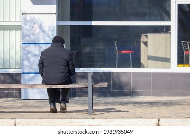 February 17, 2021 Balti or Beltsy Moldova are elderly people of retirement age in an urban environment. Illustrative editorial