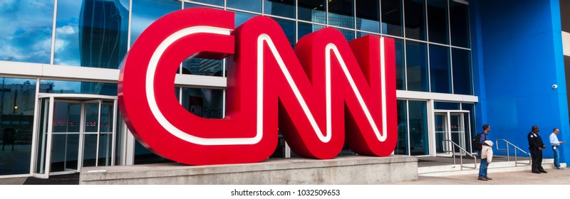 February 18, 2018. CNN Studio Center in Downtown Atlanta, Georgia, USA.