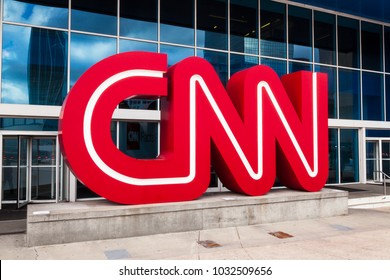 February 18, 2018. CNN Studio Center in Downtown Atlanta, Georgia, USA.