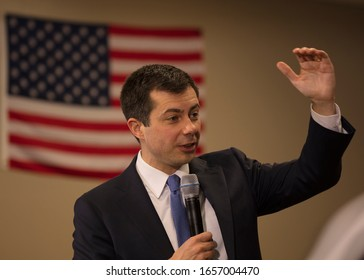 FEBRUARY 18, 2020, LAS VEGAS, NEVADA - Democratic Candidate Mayor Pete Budigieg appears at GOTC Town Hall, Las Vegas, Nevada