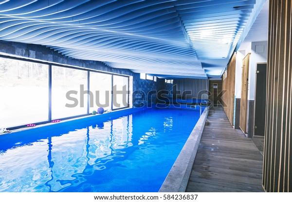February 182017 Bern Switzerland Indoor Swimming Stock Photo Edit