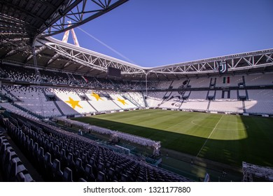 February 19,2019view of Allianz Stadium  in Turin Italy ,Juventus Stadium is home of Juventus football team