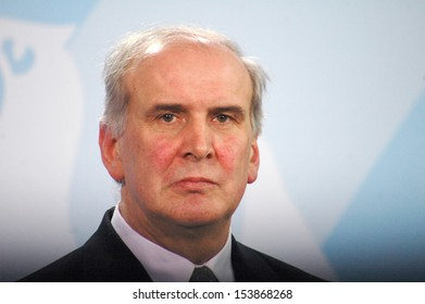FEBRUARY 20, 2008 - BERLIN: the head of government of Liechtenstein, Otmar Hasler, at a press conference after a meeting with the German Chancellor in the Chanclery in Berlin.