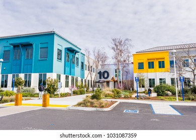 February 20, 2018  Menlo Park / CA / USA - Facebook headquarters located in the company's main campus in Silicon Valley, San Francisco bay area
