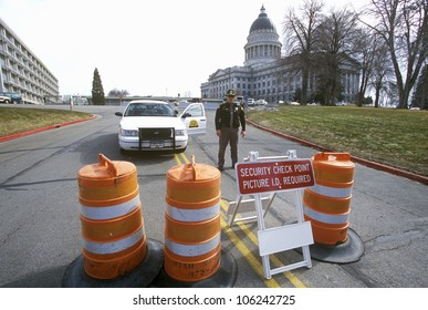 FEBRUARY 2005 - Roadblock security during 2002 Winter Olympics, Salt Lake City, UT