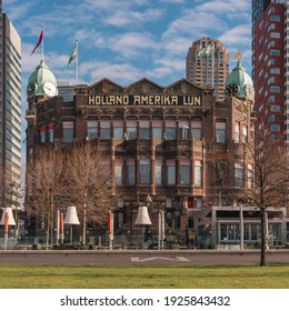 February 2021, Holland America Line (dutch Holland Amerika lijn) in Rotterdam the Netherlands