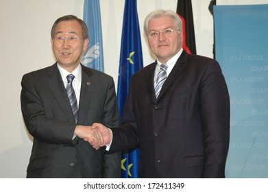 FEBRUARY 21, 2007 - BERLIN: Ban Ki-Moon, Frank Walter Steinmeier - meeting of the UN Secretary General with the German Foreign Minister in the Foreign Ministry in Berlin.