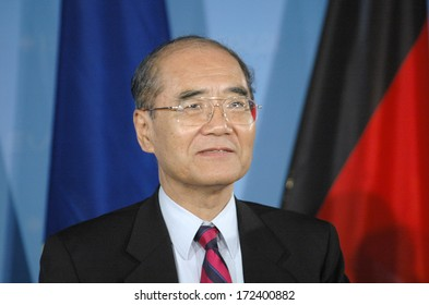 FEBRUARY 21, 2007 - BERLIN: Koichiro Matsuura (Secretary General of the UNESCO) - press conference after a meeting iwith the German Foreign Minister n the Foreign Ministry in Berlin.
