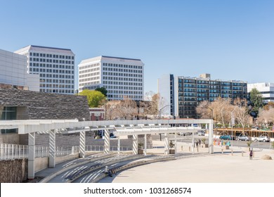February 21, 2018 San Jose / CA / USA - Urban landscape around the City Hall building in downtown San Jose, Silicon Valley