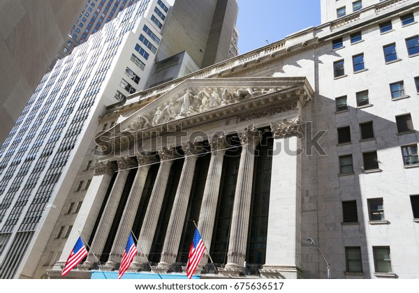 February 25th, 2017. Manhattan, NYC, USA. New York Stock Exchange from Broad street.
