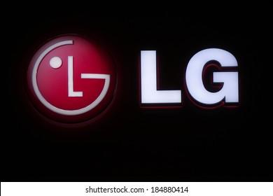 "FEBRUARY 26, 2014 - BERLIN: the logo of the brand ""LG"", Berlin."