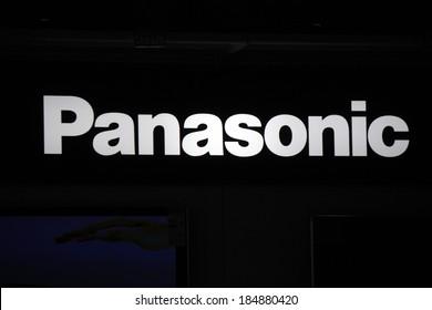 "FEBRUARY 26, 2014 - BERLIN: the logo of the brand ""Panasonic"", Berlin."
