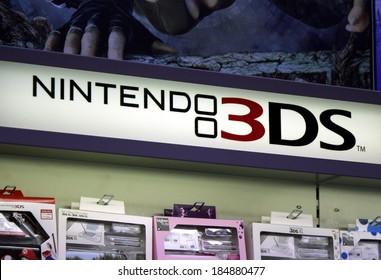 "FEBRUARY 26, 2014 - BERLIN: the logo of the brand ""Nintendo 3ds"", Berlin."