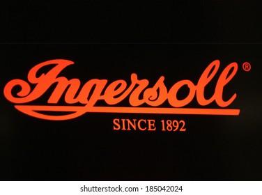 "FEBRUARY 26, 2014 - BERLIN: the logo of the brand ""Ingersoll"", Berlin."