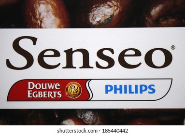 "FEBRUARY 26, 2014 - BERLIN: the logo of the brand ""Senseo"" and ""Philips"", Berlin."