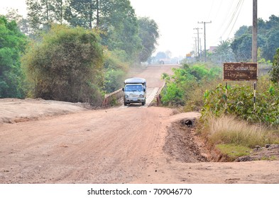February 26, 2015, Kanchanaburi, Savannakhet, Laos Roads and bridges across the river