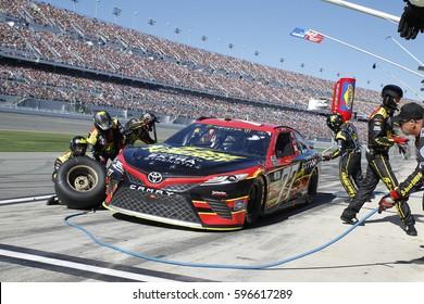 February 26, 2017 - Daytona Beach, Florida, USA: The Monster Energy NASCAR  Cup Series teams takes to the track for the Daytona 500 at Daytona International Speedway in Daytona Beach, Florida.