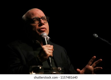 FEBRUARY 26, 2018 - BERLIN: Michael Wolff at the presentation of his book on the Donald Trump Presidency Fire and Fury, Volksbuehne, Berlin.
