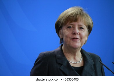 FEBRUARY 5, 2015 - BERLIN: Chancellor Angela Merkel after a meeting with the new Iraqi Prime Minister in the Chanclery in Berlin.