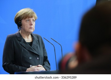 FEBRUARY 5, 2015 - BERLIN: German Chancellor Angela Merkel after a meeting with the new Iraqui Prime Minister in the Chanclery in Berlin.