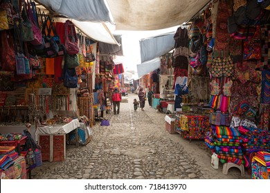 February 5, 2015 Chichicastenango, Guatemala: one of the most popular tourist destinations in the country is the artisan market of Chichicastenango