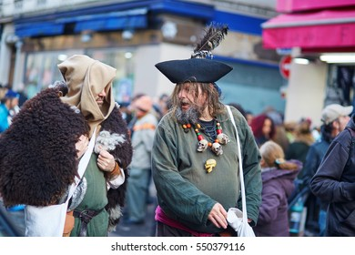 FEBRUARY 7, 2016 - PARIS: Traditional February carnival (marine theme) in Paris, France