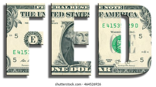FED - Federal Reserve System. American central bank. US Dollar texture.