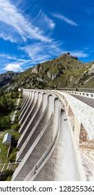 Fedaia Pass (Passo Fedaia) , at the foot of the Marmolada Massif and Lake Fedaia, Dolomites, Fassa Valley, Trentino Alto Adige, Italy , Europe