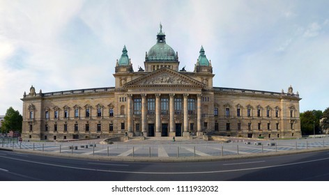 federal administrative court in the city leipzig - germany - saxony - historical building for sightseeing and visit