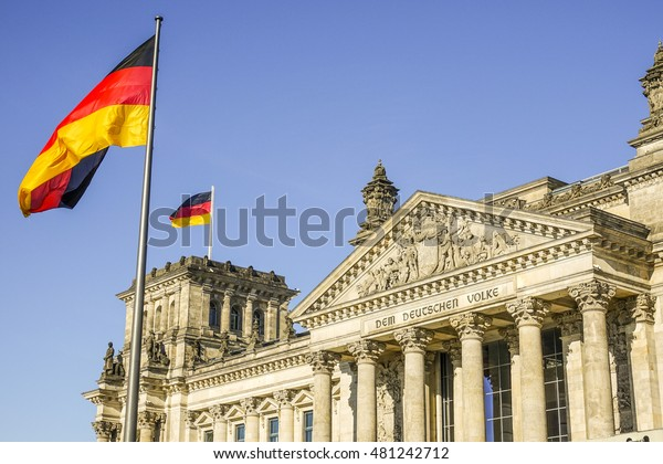 Federal Government Office - German Bundestag Reichtagsgebaeude in Berlin - BERLIN / GERMANY - AUGUST  31, 2016