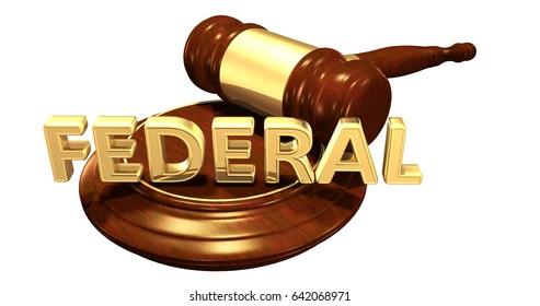Federal Law Concept 3D Illustration