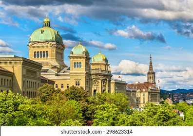 The Federal Palace of Switzerland in Bern