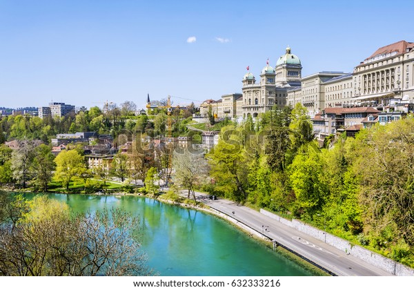 Federal Palace of Switzerland in Bern, capital city of Switzerland.