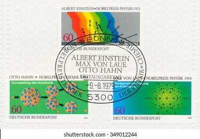 Otto hahn images stock photos vectors shutterstock federal republic of germany circa 1979 a postmark printed in frg shows diagram ccuart Gallery