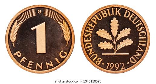 Federal Republic of Germany Coin 1 Pfennig 1992