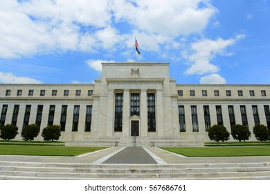 Federal Reserve Building is the headquarter of the Federal Reserve System and 12 Federal Reserve Banks, Washington DC, USA.