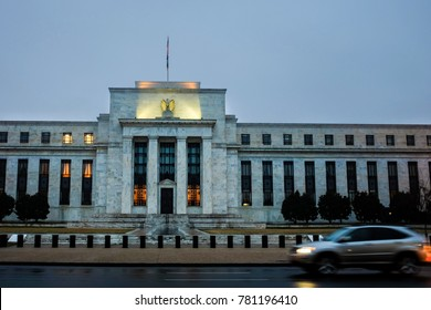 Federal Reserve building at night - Washington DC United States