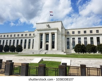 Federal Reserve Building on the Constitution Avenue in Washington DC, United States of America