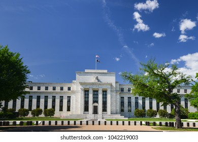 Federal Reserve Building in springtime - Washington DC, United States