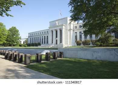 Federal Reserve building in Washington DC in the morning