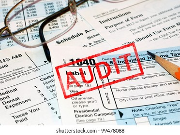 Federal tax forms being audited