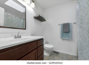 Federal Way, WA / USA - Oct. 29, 2018: Modern bathroom interior