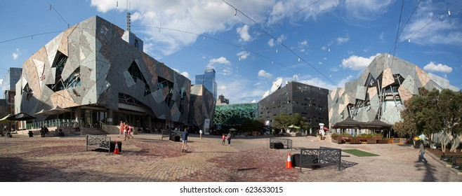 Federation Square, Melbourne, Vic, Australia on Apr 8, 2017